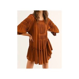 Free People See Ya There Flowy Mini Dress